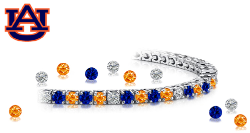 Stunning white gold, sapphire and diamond bracelet