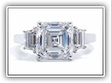 Click to enlarge this Custom Ring Design - Asscher1
