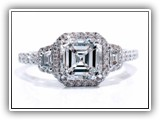 Click to enlarge this Custom Ring Design - Asscher2