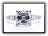 Click to enlarge this Custom Ring Design - Asscher5