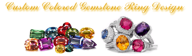 Colored Gemstone Ring Design